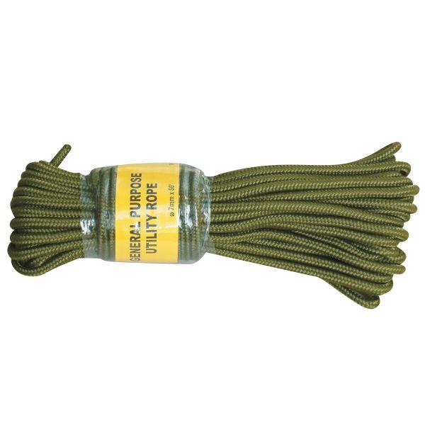 Kommandoseil oliv 7 mm