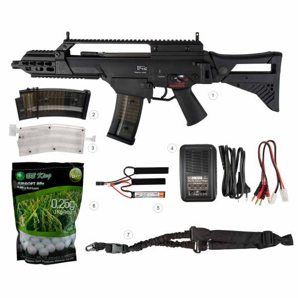 Heckler & Koch Airsoft Gewehr Bundle-Deal G36C S-AEG schwarz