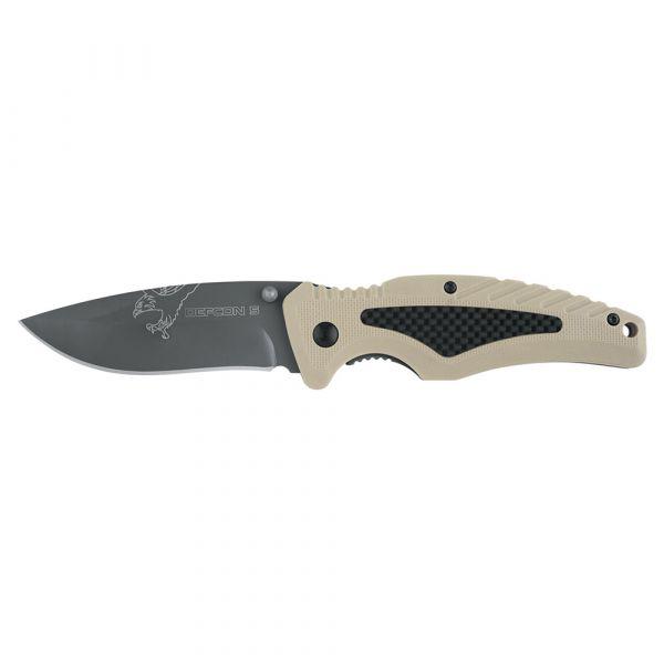 Defcon 5 Taschenmesser Tactical Folding Knife Bravo tan schwarz