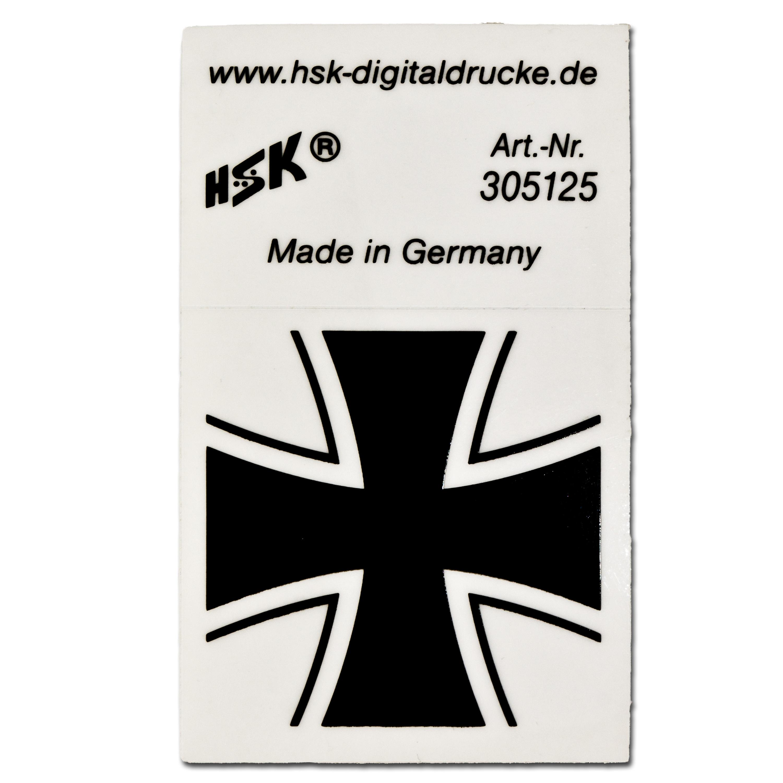 Aufkleber Eisernes Kreuz schwarz