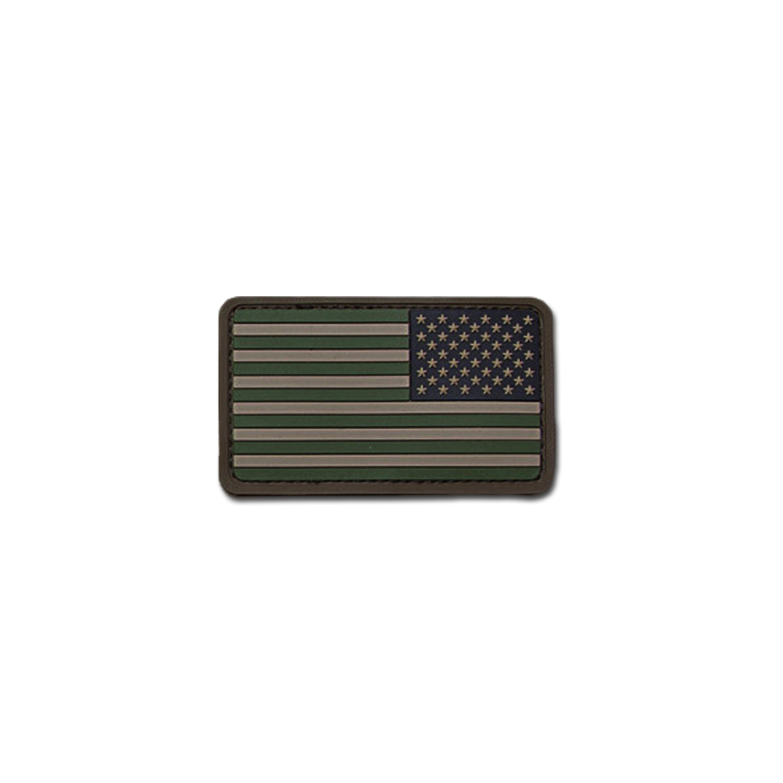 MilSpecMonkey Patch US Flag REV PVC forest