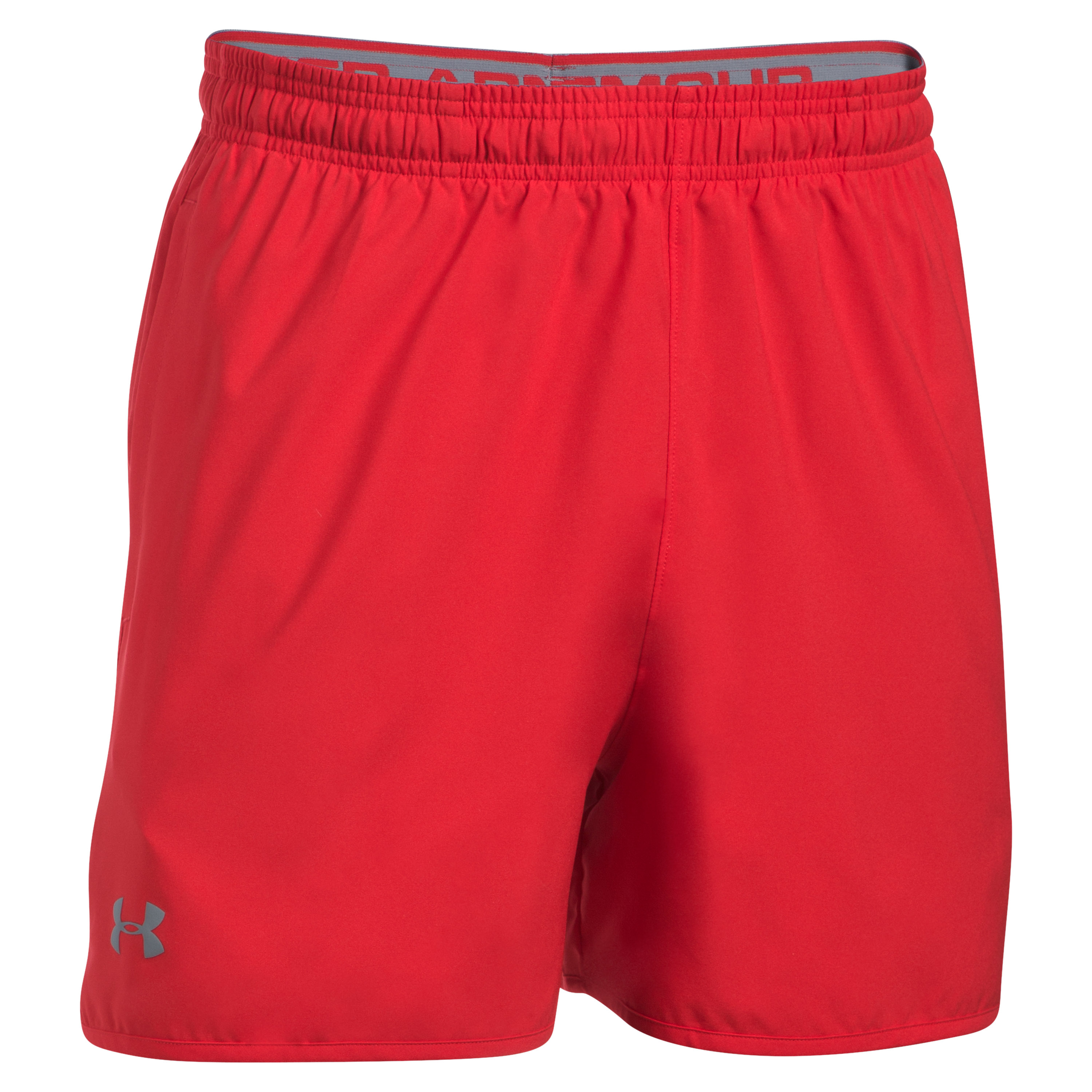 Under Armour Short Qualifier 5 In. Woven rot-grau