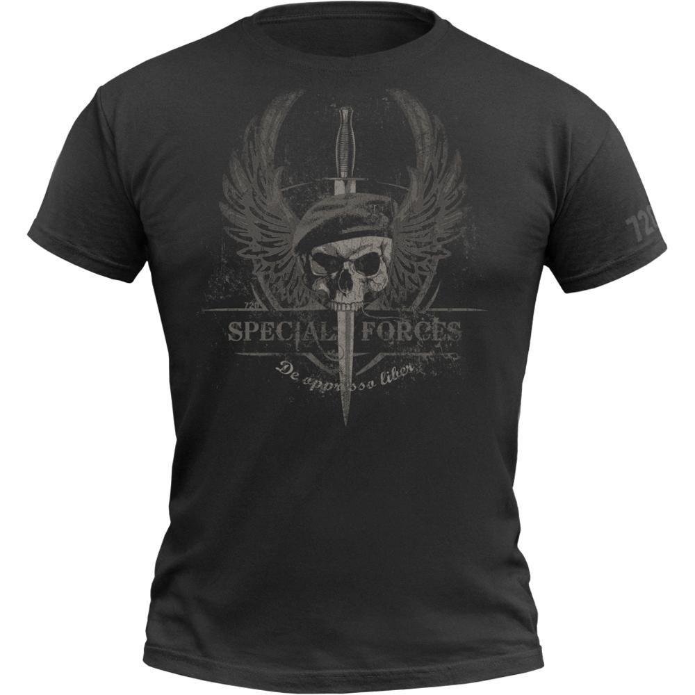 720gear T-Shirt Special Forces schwarz