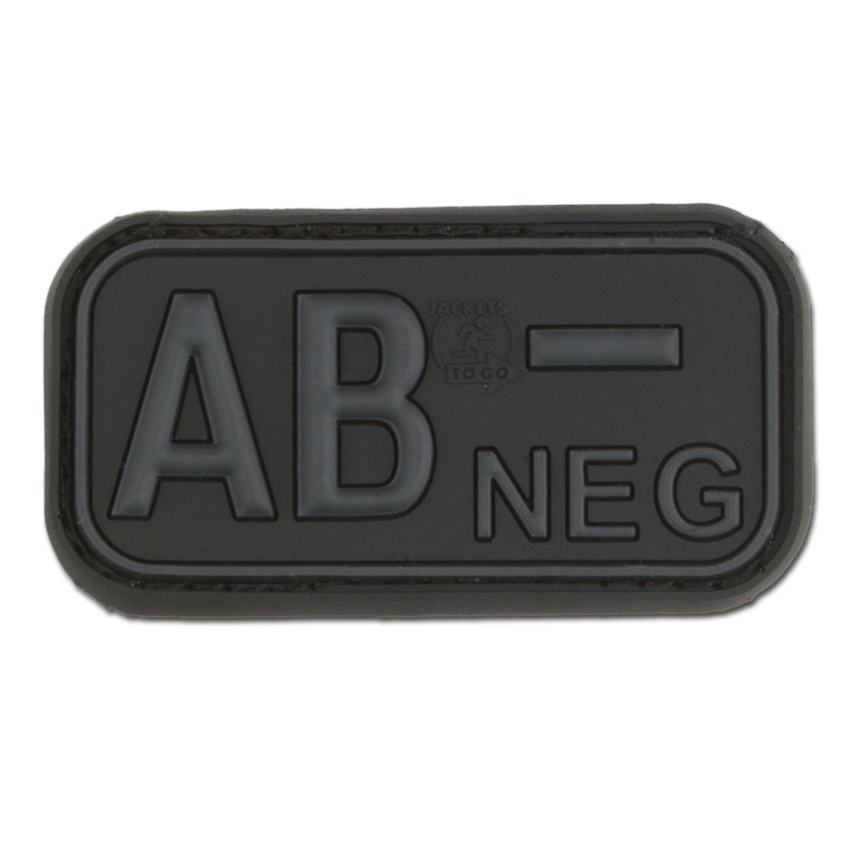 3D Blutgruppenpatch AB Neg blackops
