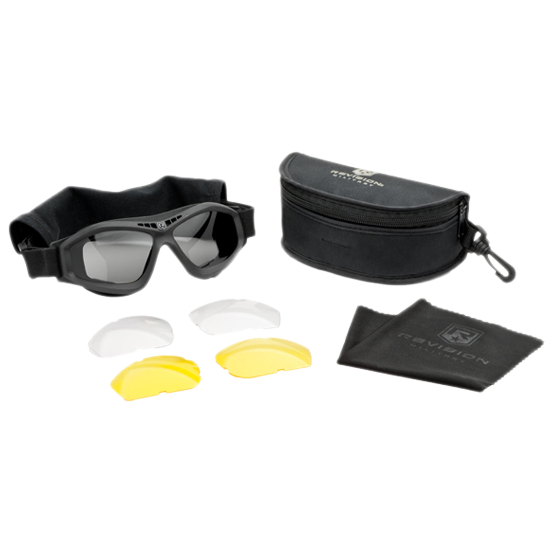 Revision Brille Bullet Ant Mission Kit schwarz gelbes Glas