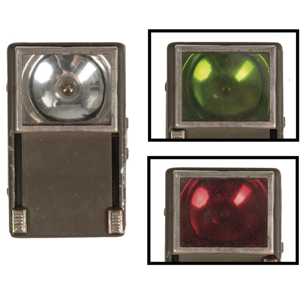 Polnische Taschenlampe 3 Farben Drahtbügel oliv gebraucht