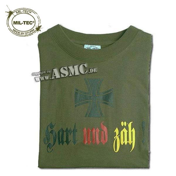 T-Shirt Hart und Zäh oliv