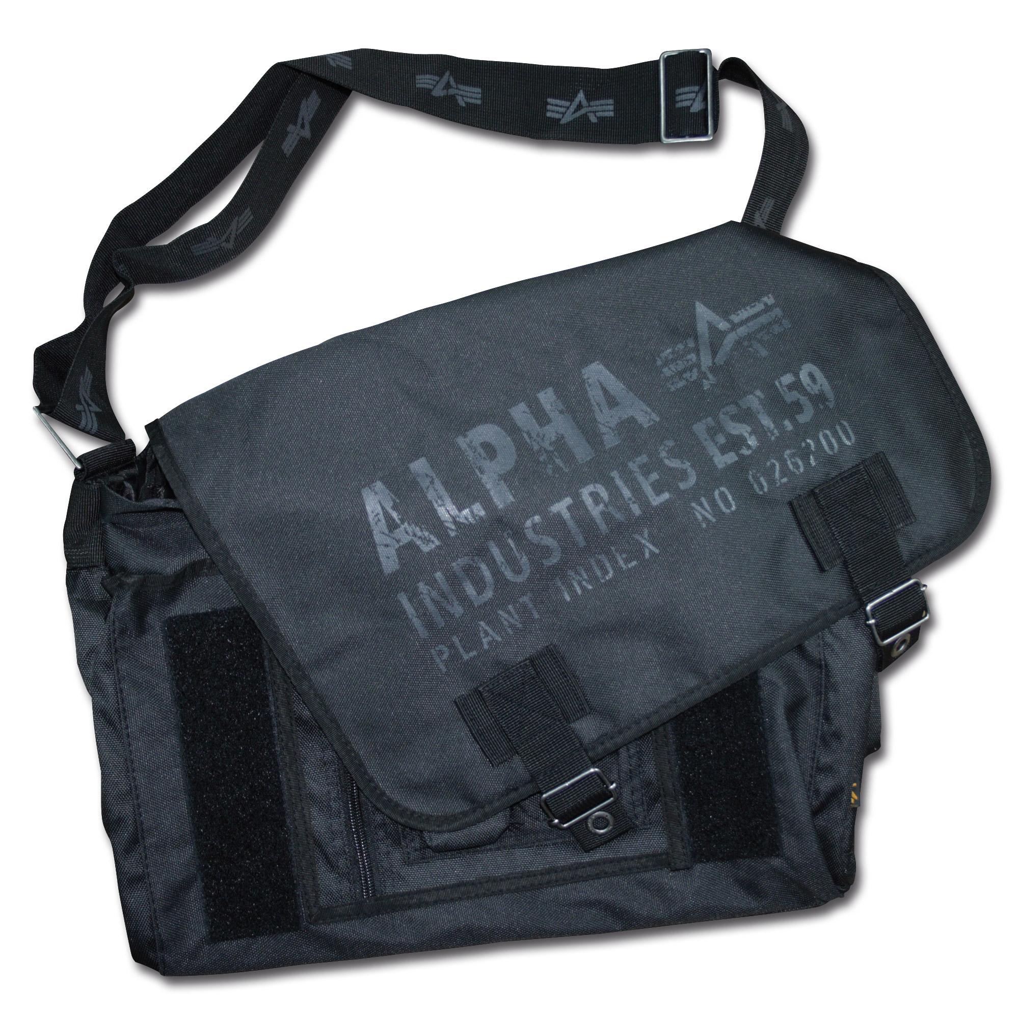Alpha Industries Cargo Oxford Courier Bag schwarz