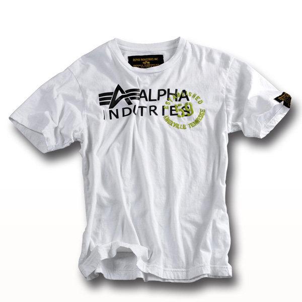 T-Shirt Alpha Gum Print weiß