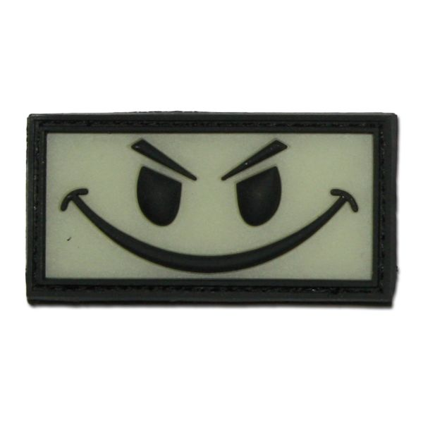 3D-Patch Evil Smiley nachleuchtend