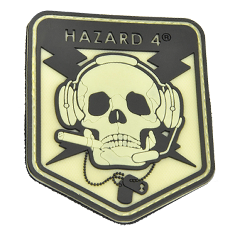 3D-Patch Hazard 4 SpecOp Skull nachleuchtend