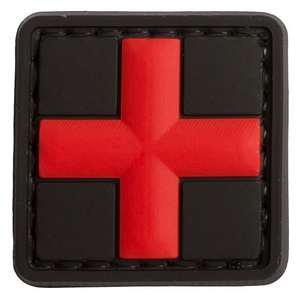 TAP 3D Patch Red Cross Medic blackmedic 25 mm