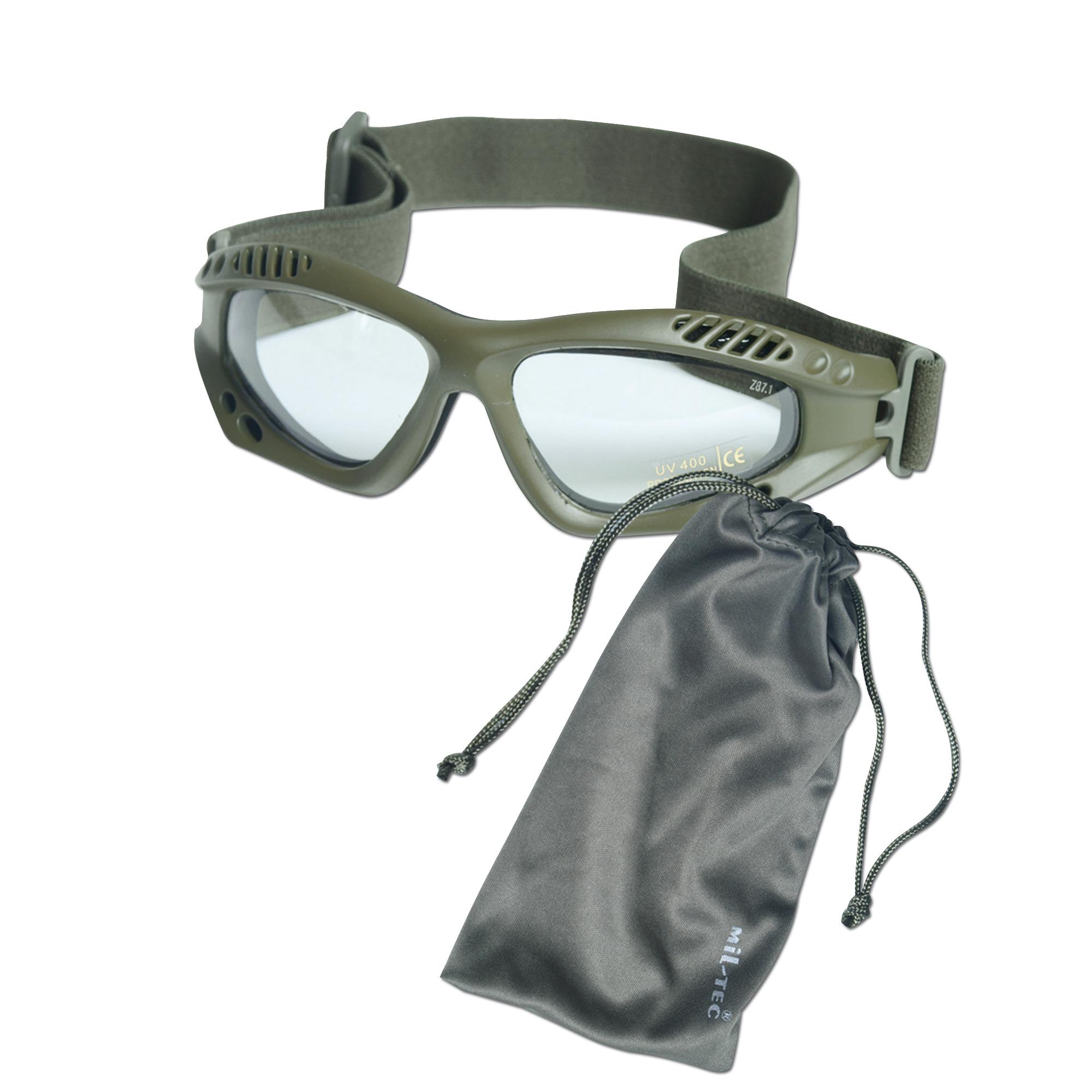 Brille Commando Air-Pro oliv klar
