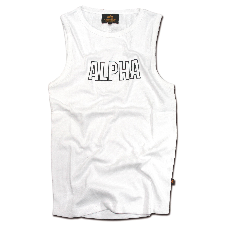 Tank Top Alpha Industries Track weiß