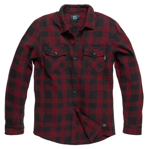 Vintage Industries Hemd Globe Heavyweight Shirt red check
