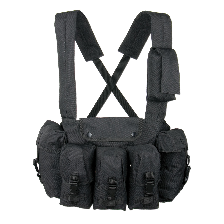 Chest-Rig 6-Pocket schwarz
