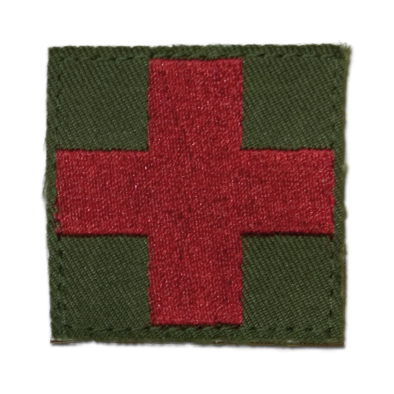 Textilabzeichen Red Cross/Medic Klett oliv
