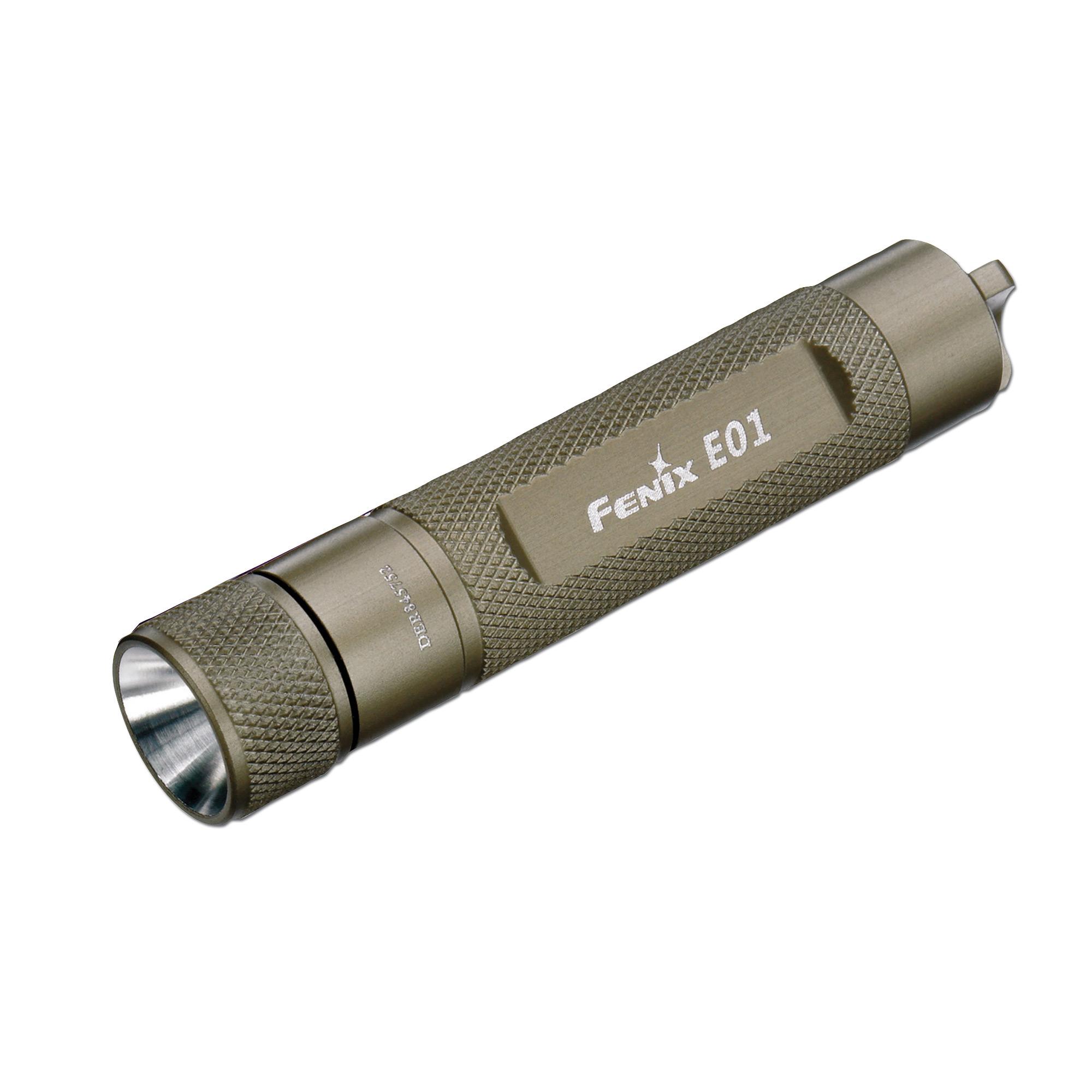 Lampe Fenix E01 LED grau