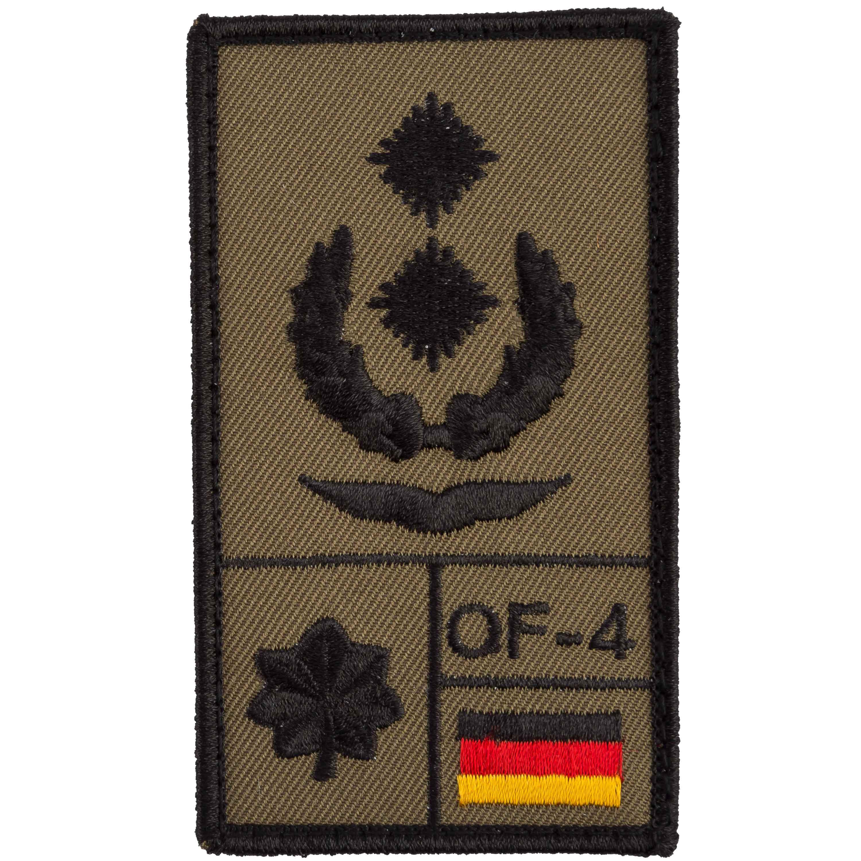 Café Viereck Rank Patch Oberstleutnant Luftwaffe oliv