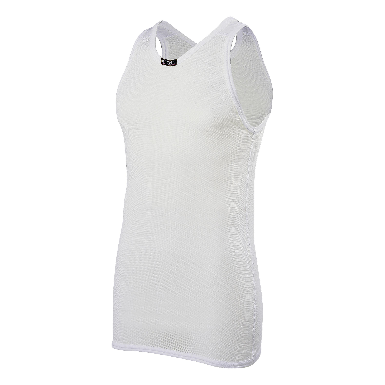 Brynje A-Shirt Micro Net weiß