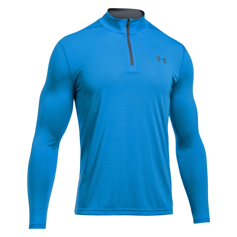 Under Armour Fitness Langarmshirt Threadborne 1/4 Zip Blau