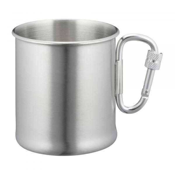 Mil-Tec Karabinerbecher Edelstahl 250 ml