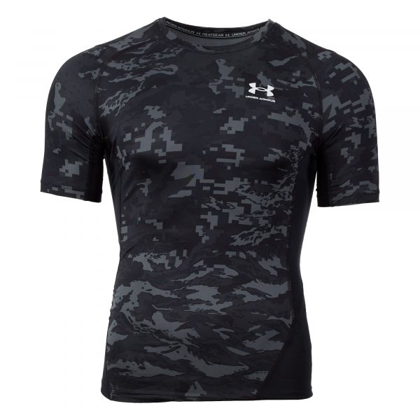 Under Armour Shirt HG Armour Camo Comp Print SS schwarz