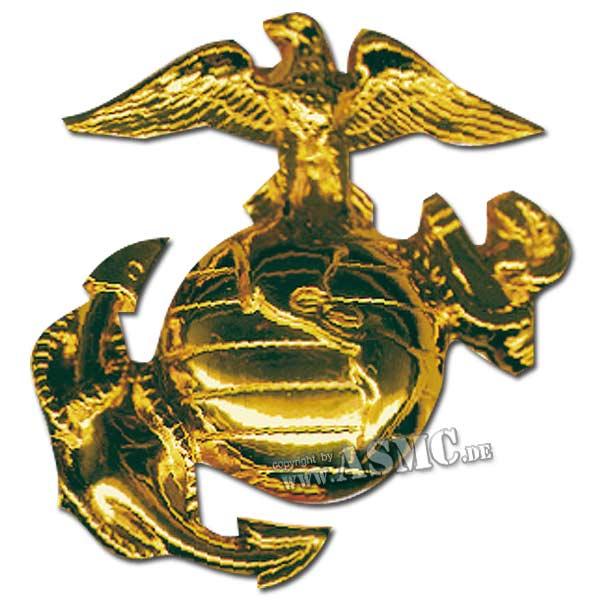Abzeichen USMC Mütze gold