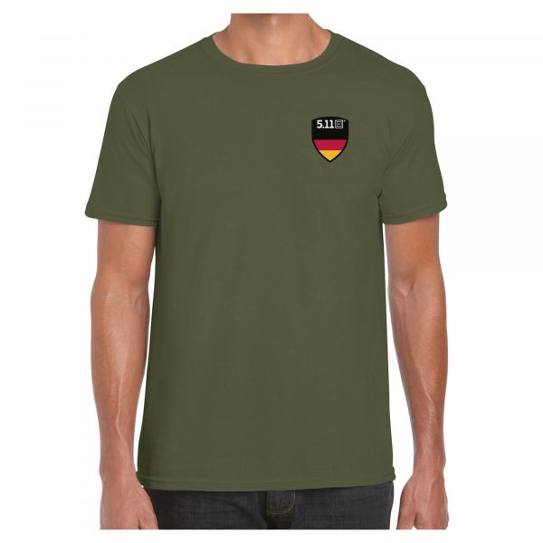 5.11 T-Shirt Flag Shield Deutschland military green