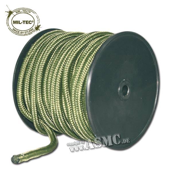 Kommandoseil oliv 9 mm, 30 m