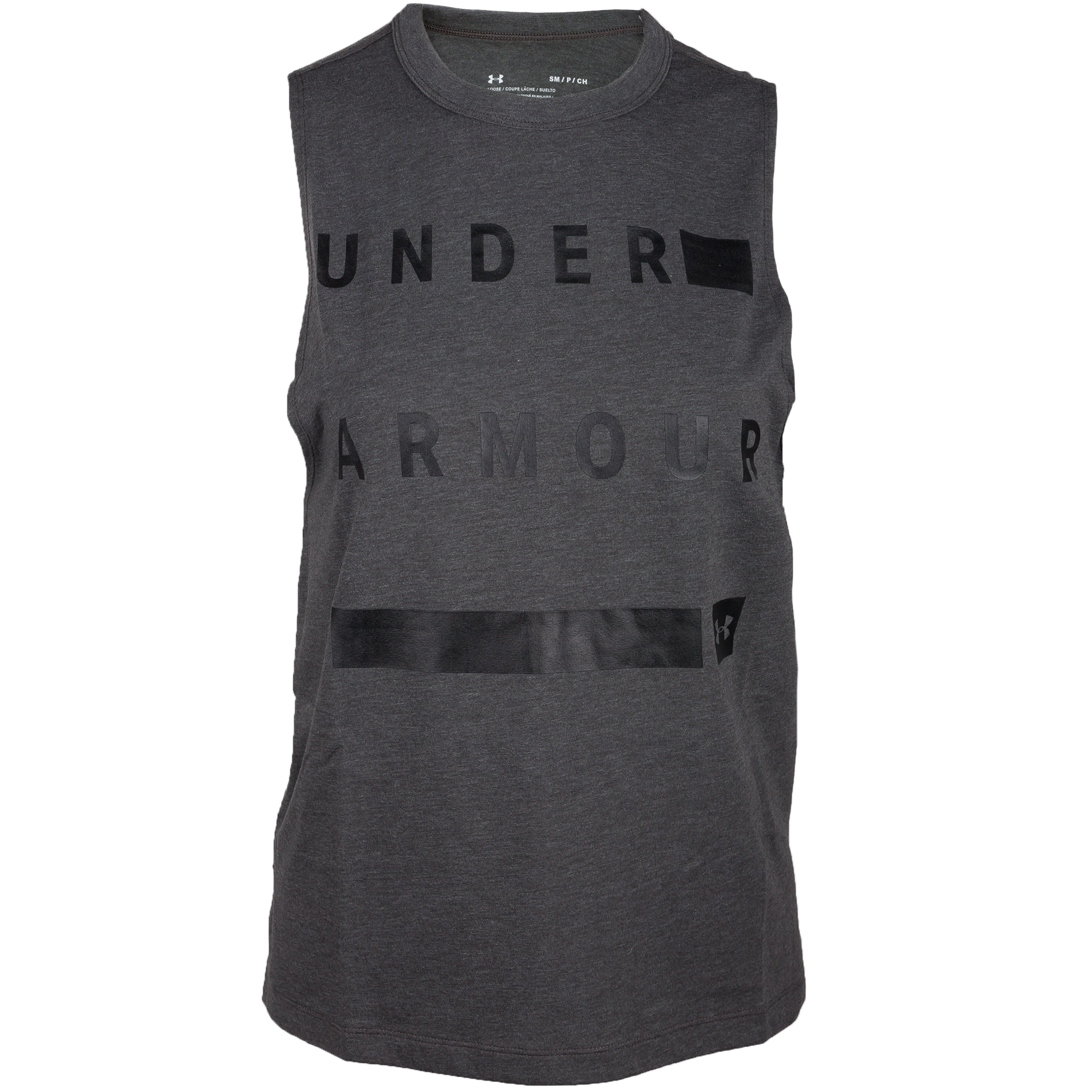 Under Armour Women Shirt Muscle Linear Wordmark grau