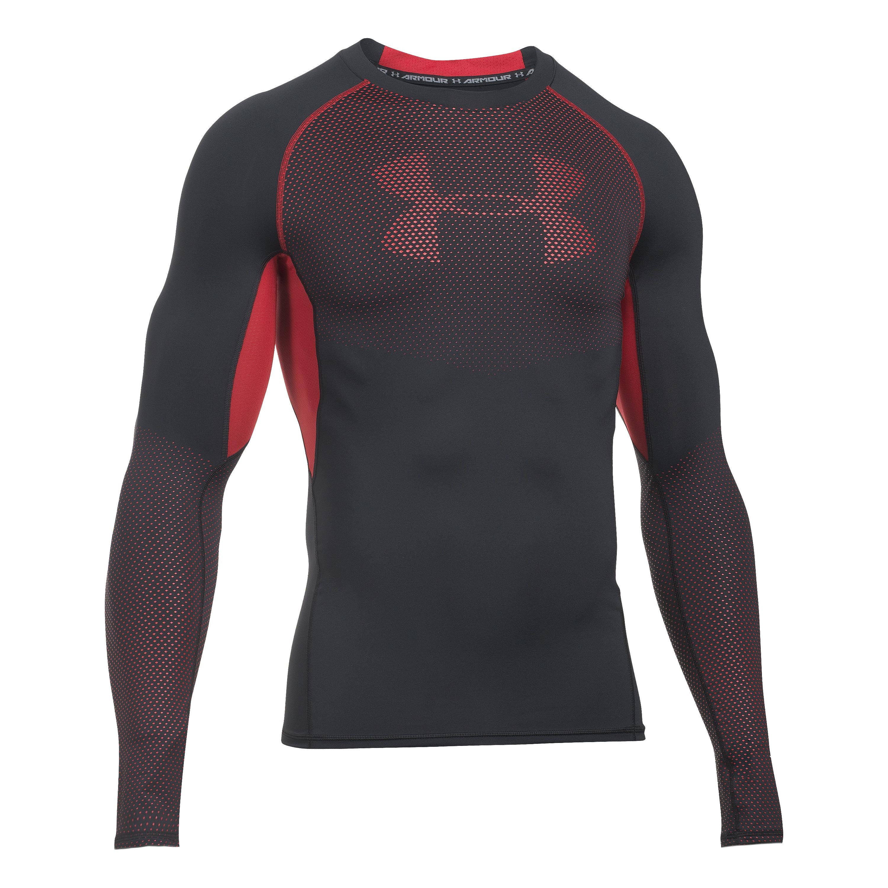 Under Armour Langarmshirt HeatGear Armour Graphic schwarz-rot