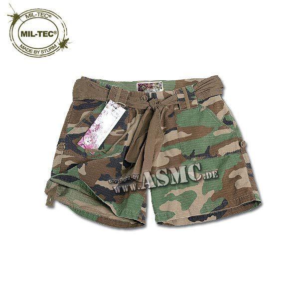 Army Shorts Woman woodland
