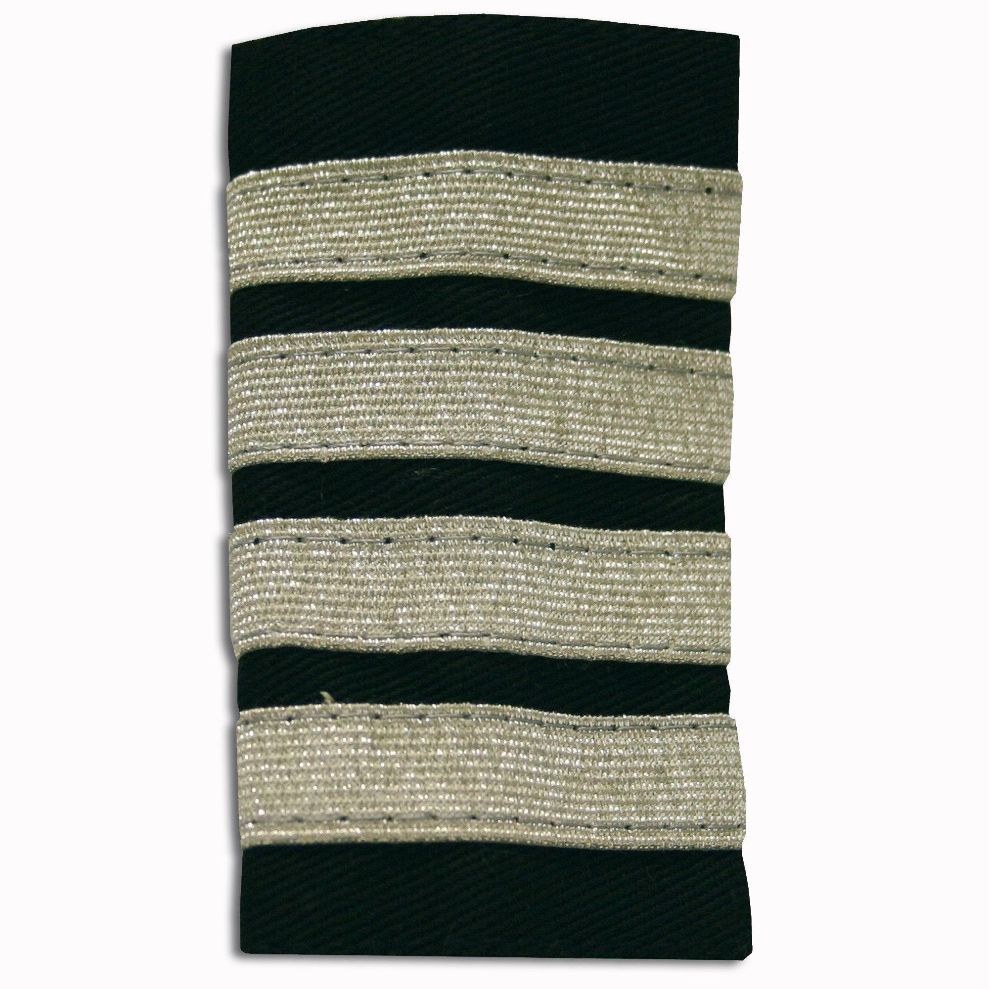 Rangabzeichen silber 4 Streifen