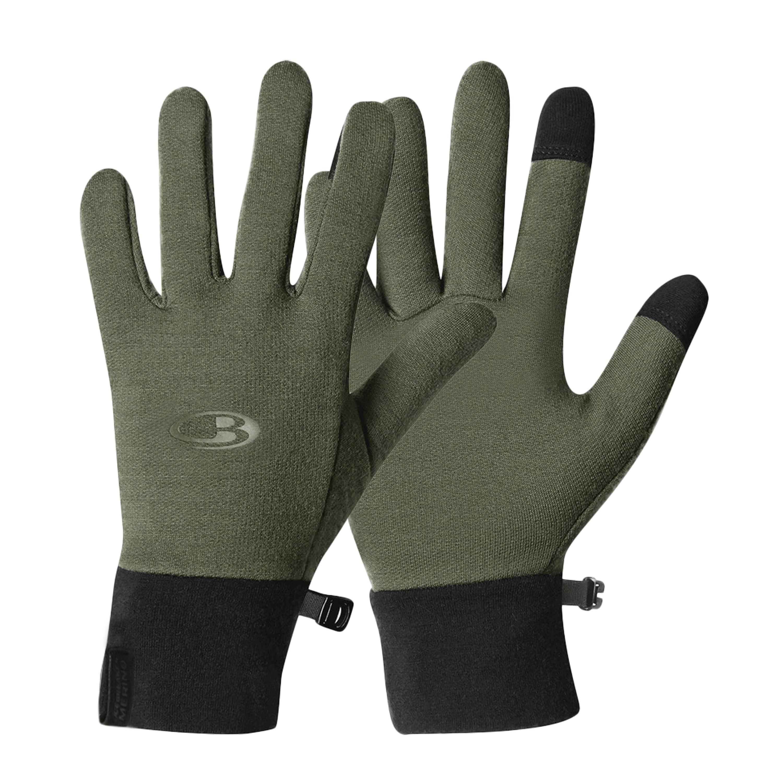 Icebreaker Sierra Gloves Merino oliv