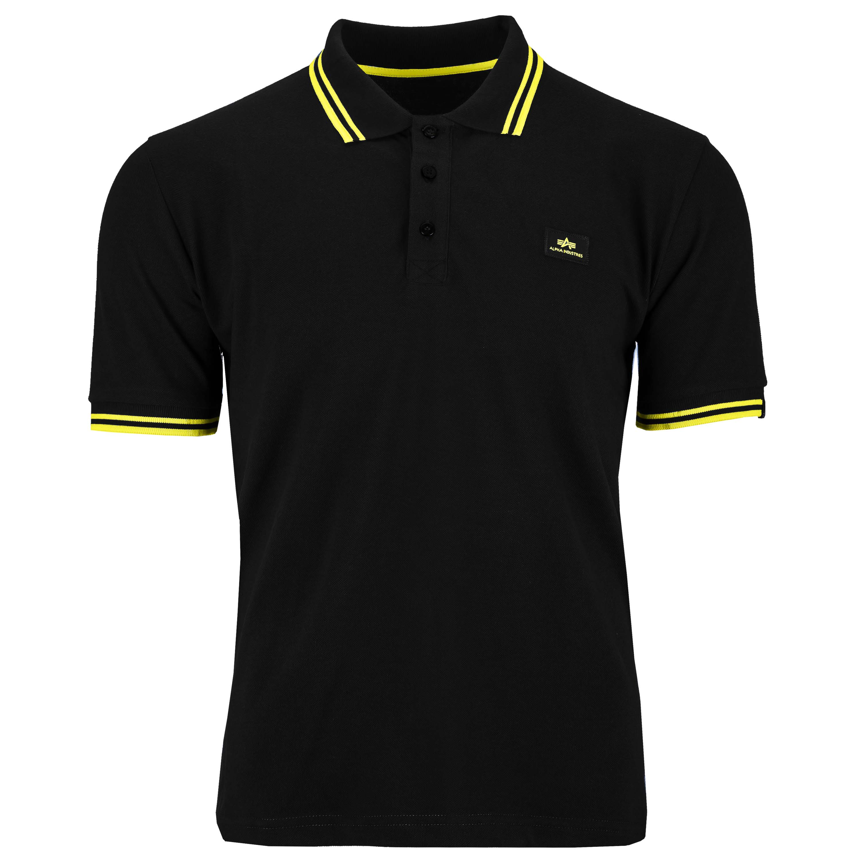 Alpha Industries Shirt Twin Stripe Polo II schwarz/gelb