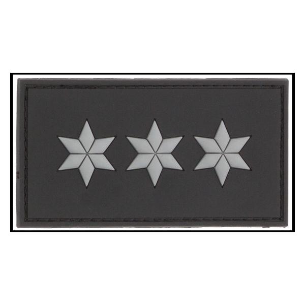 3D-Patch Dienstgradabzeichen Polizeihauptkommissar schwarz