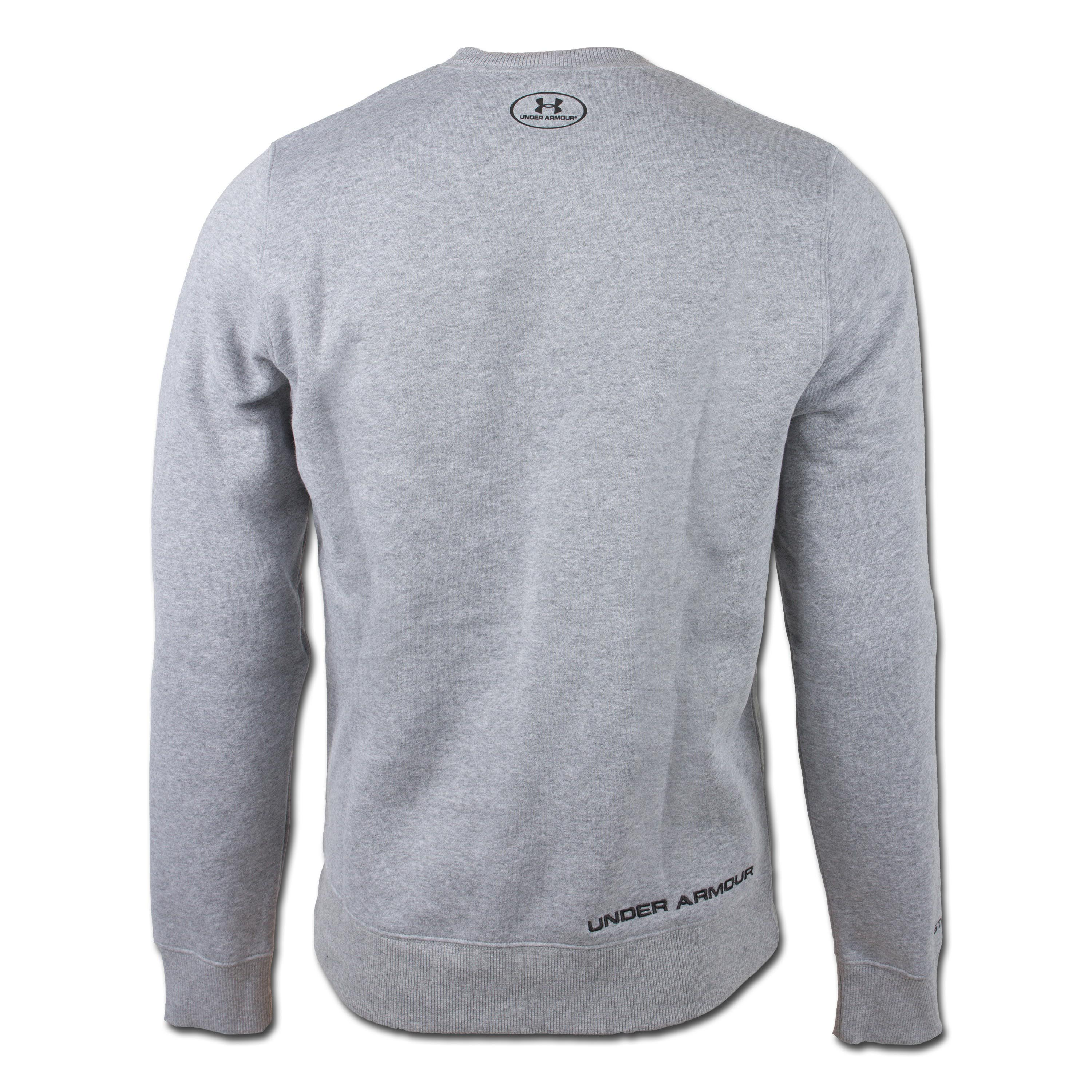 Under Armour Charged Cotton Rival Crew Shirt grau
