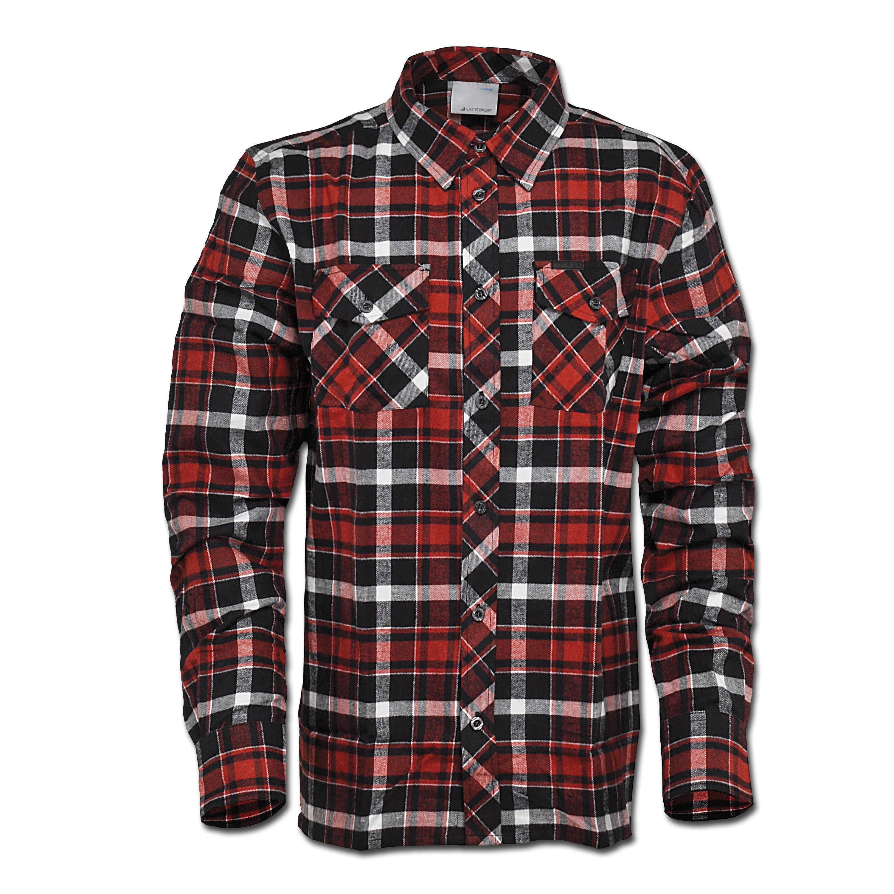 Hemd Vintage Industries Finnley rot checked