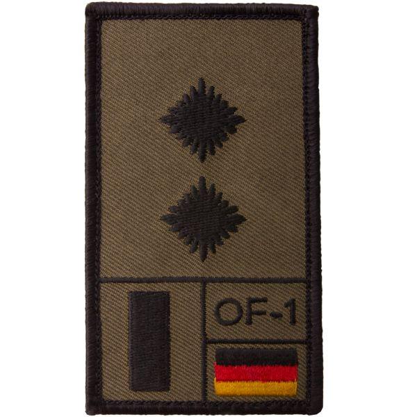 Café Viereck Rank Patch Oberleutnant oliv