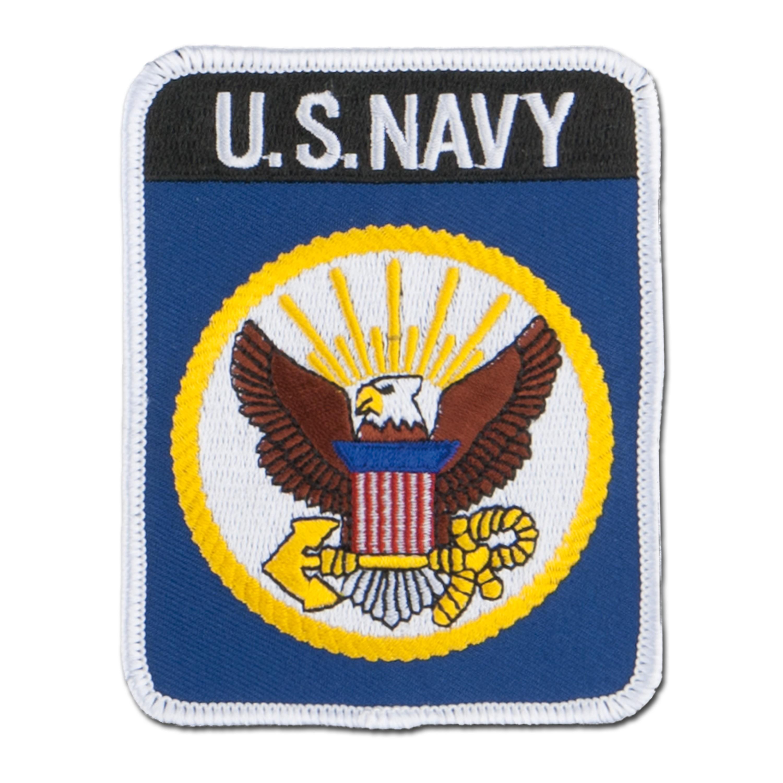 Abzeichen US Textil Navy rechteckig