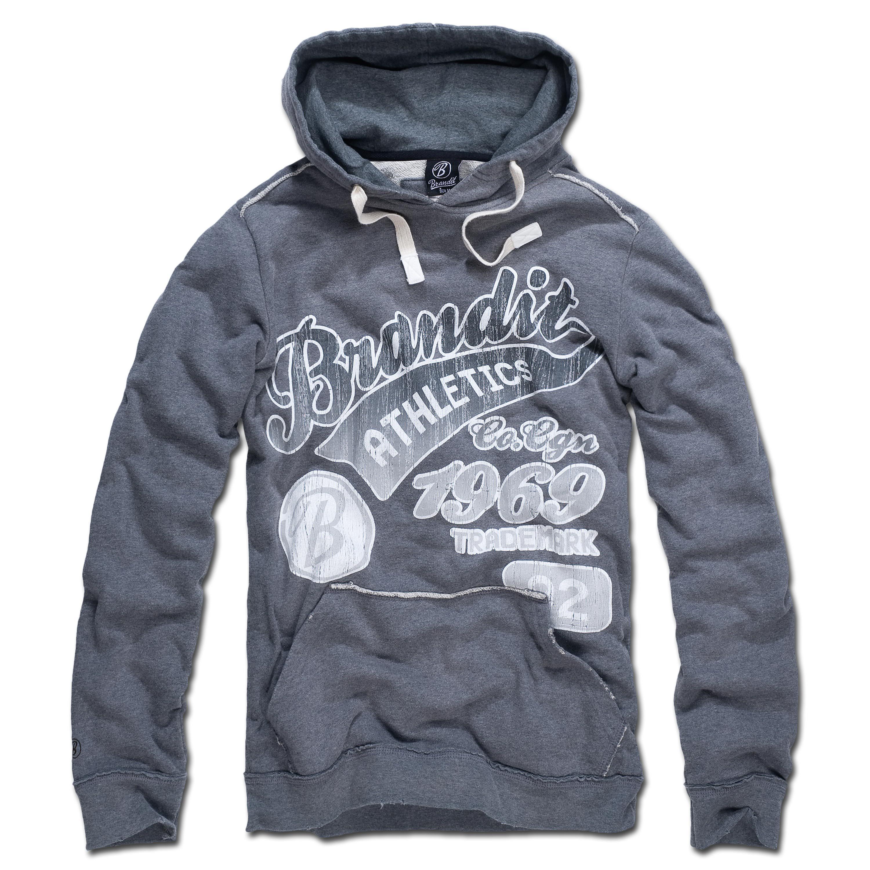 Hood-Sweatshirt Brandit Classic Mountain grau/grau