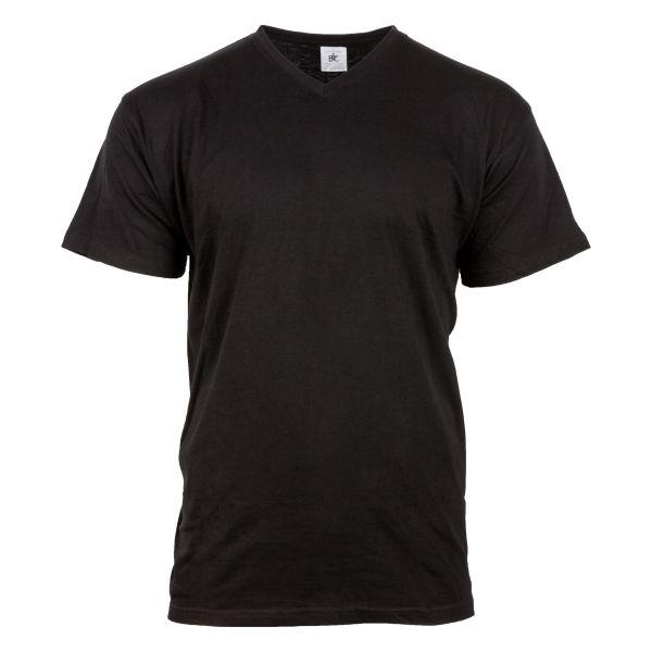 T-Shirt V-Neck schwarz