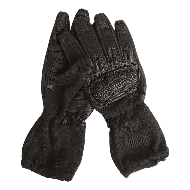 Handschuhe Action Gloves flammhemmend mit Stulpe schwarz
