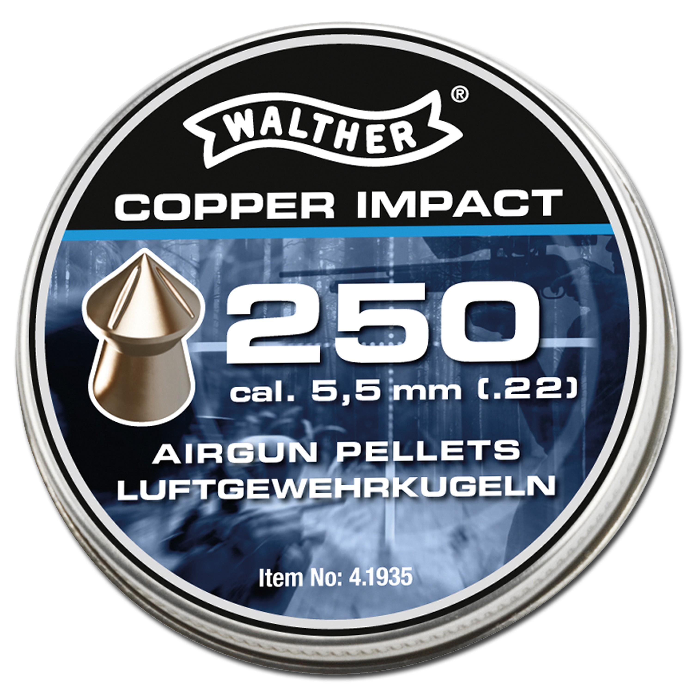 Spitzkopf Diabolos Walther Copper Impact 5.5 mm 5 X 250 Stück