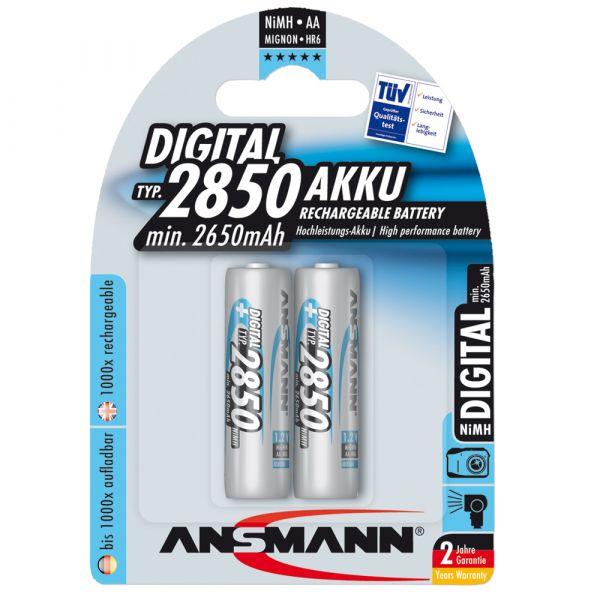 Akku Ansmann NiMH Mignon AA Blue Line DI 2er-Pack