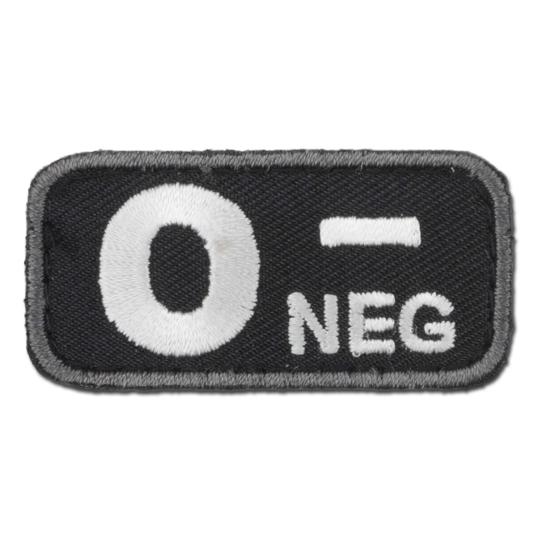 MilSpecMonkey Patch Blutgruppe O Neg swat