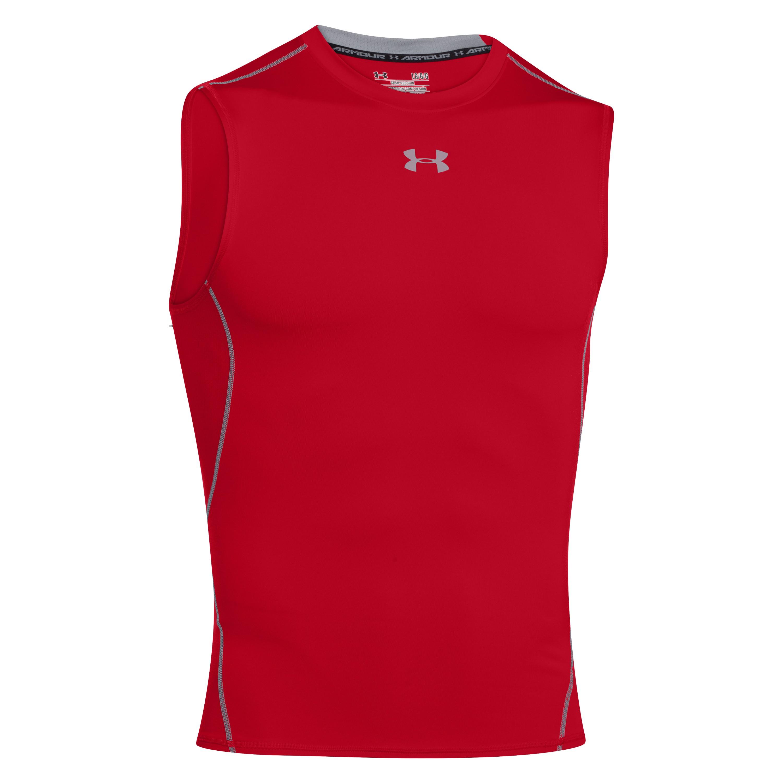 Under Armour Compression Shirt HeatGear Armour rot/grau