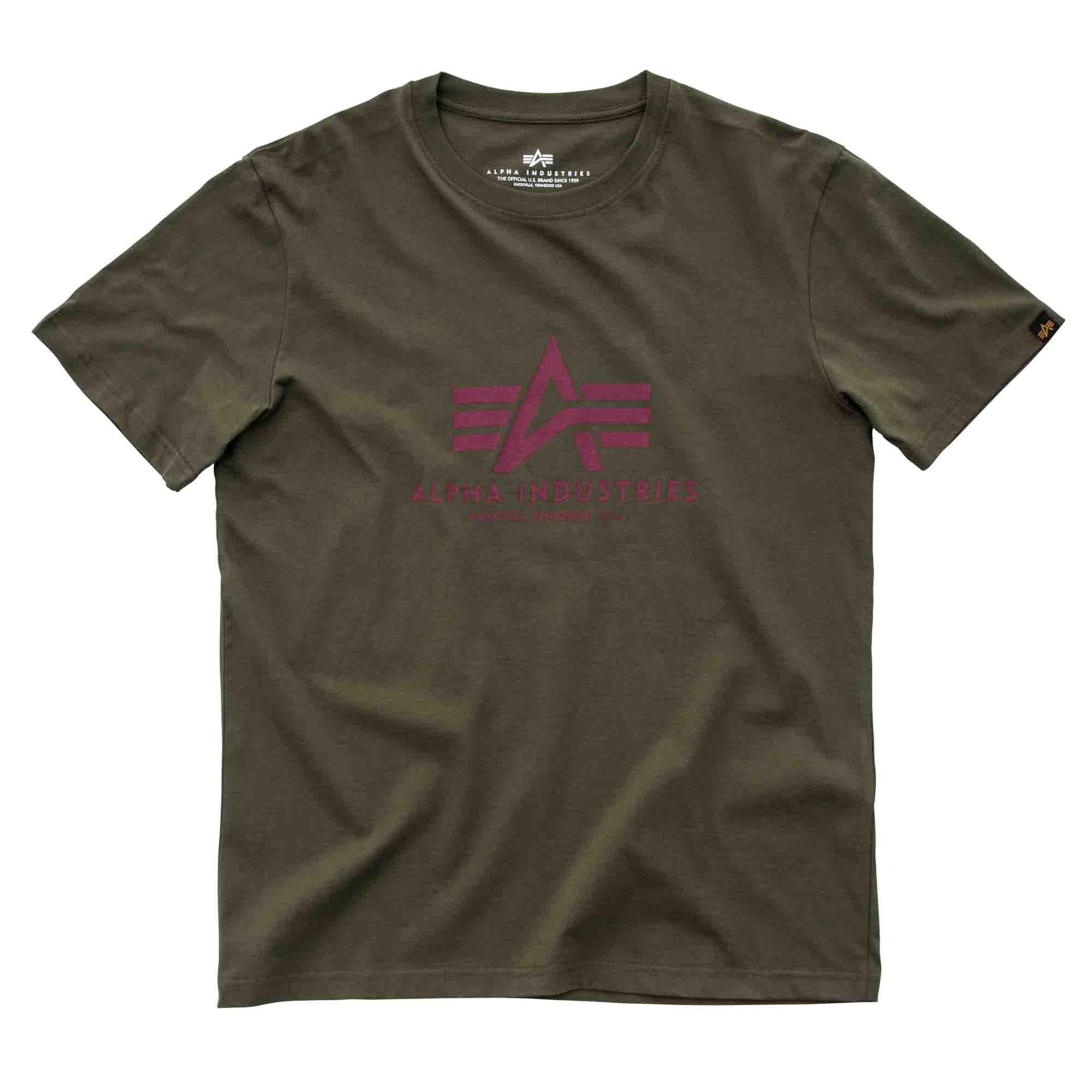 Alpha Industries T-Shirt Basic dark green