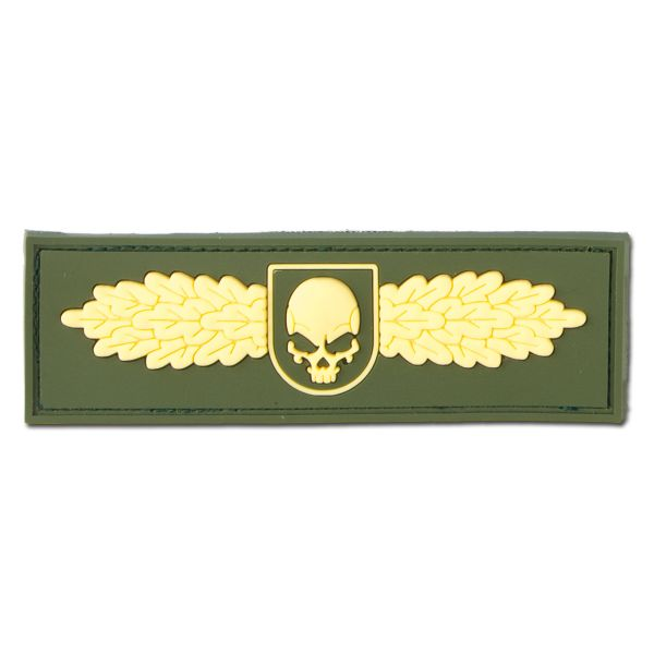 3D-Patch SOF Skull Badge gold